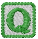 Baby Block Q embroidery design