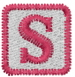 Baby Block S embroidery design