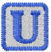 Baby Block U embroidery design