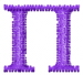 Greek Letters Pi embroidery design