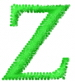 Greek Letters Zeta embroidery design