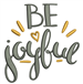 Be Joyful embroidery design