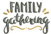 Family Gathering embroidery design