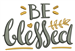 Be Blessed embroidery design