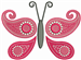 Butterfly Paisley Pink embroidery design
