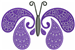 Butterfly Paisley Purple embroidery design