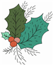 Holly Leaf embroidery design
