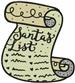 Santas List embroidery design