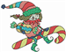 Candy Cane Elf embroidery design