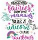 Unicorn And Rainbows embroidery design