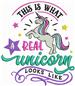 Real Unicorn embroidery design