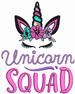 Unicorn Squad embroidery design
