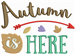 Autumn Is Here embroidery design