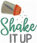 Shake It Up embroidery design