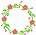 Orange Flower Wreath embroidery design
