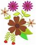 Flower Decor embroidery design