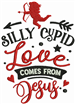 Silly Cupid embroidery design