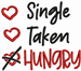 Funny Valentine Sign embroidery design