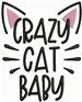 Crazy Cat Baby embroidery design