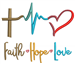 Faith Love and Hope embroidery design