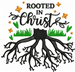 Rooted In Christ embroidery design