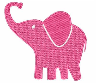 Pink Elephant Embroidery Design   AnnTheGran