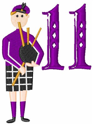 11 Pipers Piping Embroidery Design Annthegran