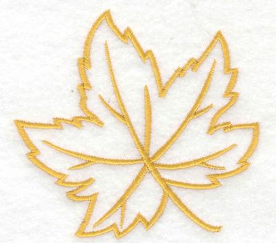 Maple Leaf Outline Embroidery Design Annthegran