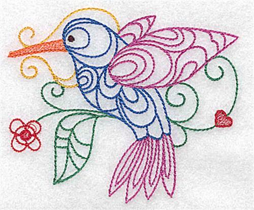 Hummingbird Outline Embroidery Design | AnnTheGran