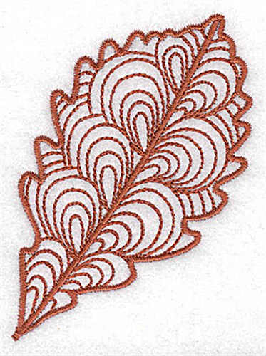 Swamp white oak leaf embroidery design annthegran
