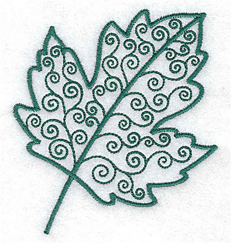 Silver maple leaf embroidery design annthegran