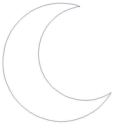 Crescent Moon Embroidery Design | AnnTheGran