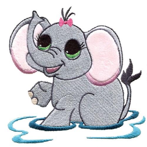 Elephant Embroidery Design  AnnTheGran