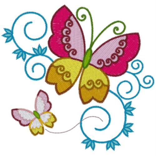 Free Butterflies Embroidery Design Annthegran