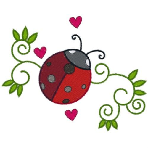 Free Ladybug Swirls Embroidery Design Annthegran