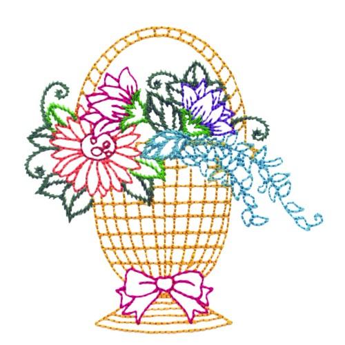 Free Flower Basket Embroidery Designs : Flower basket embroidery design annthegran