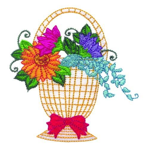 Free Flower Basket Embroidery Designs : Pretty flower basket embroidery design annthegran