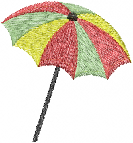 Beach umbrella embroidery design annthegran