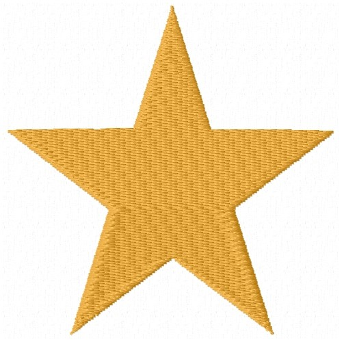 Star basic embroidery design annthegran