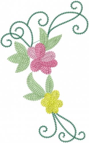 Rose Vine Swirls Embroidery Design Annthegran
