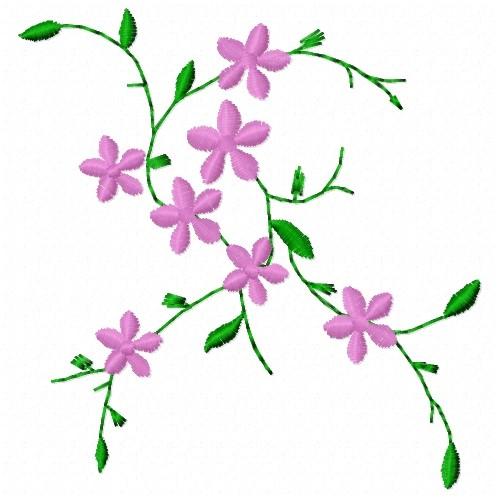 Vine flowers embroidery design annthegran