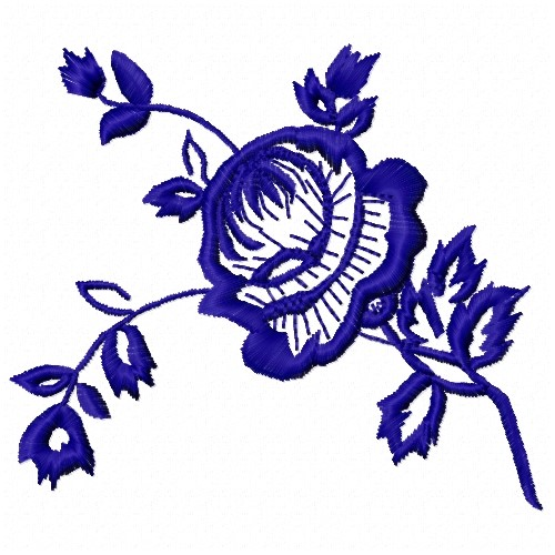 Outline rose embroidery design annthegran