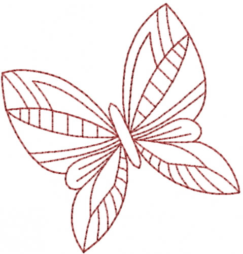 Pretty Butterfly Redwork Embroidery Design Annthegran