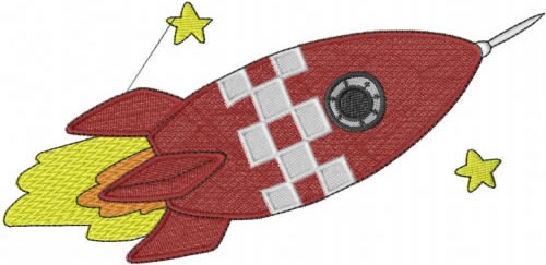 Space rocket embroidery design annthegran for Space embroidery patterns