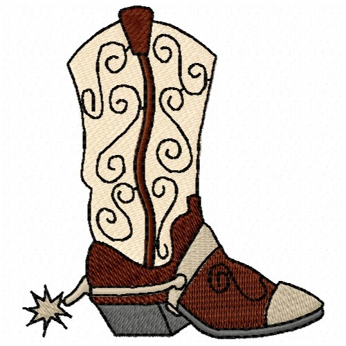 Cultural(ATG Freedesigns) Embroidery Design: Cowboy Boot from Anns ...