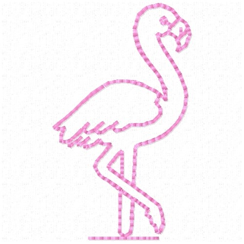 Free Flamingo Outline Embroidery Design | AnnTheGran Flamingo Outline
