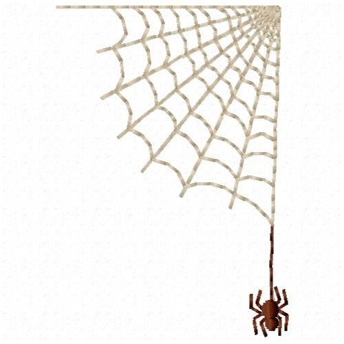 Free Spiderweb Corner Embroidery Design Annthegran