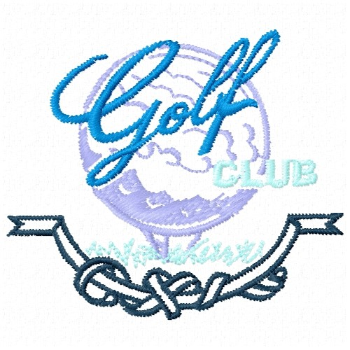 Free Golf Club Emblem Embroidery Design  Plants