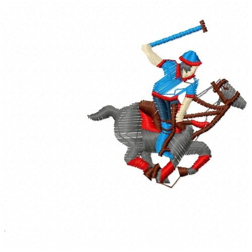 Free Polo Player & Horse Embroidery Design | AnnTheGran