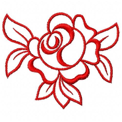 Free Rose Outline Embroidery Design | AnnTheGran